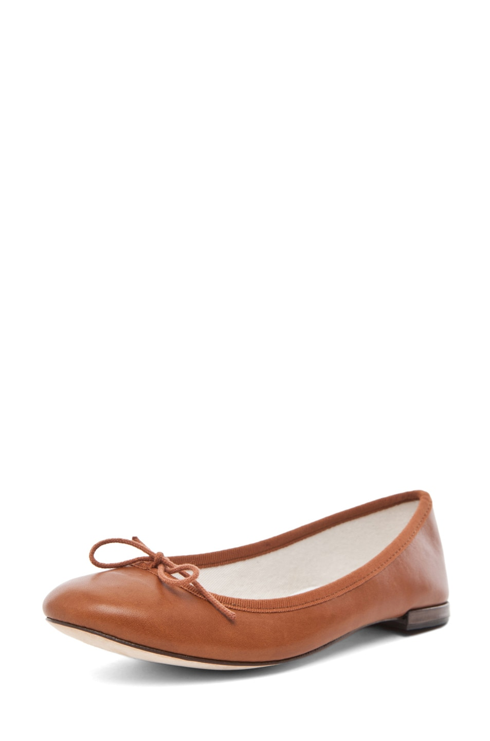 Image 2 of Repetto Leather Flat in Cognac