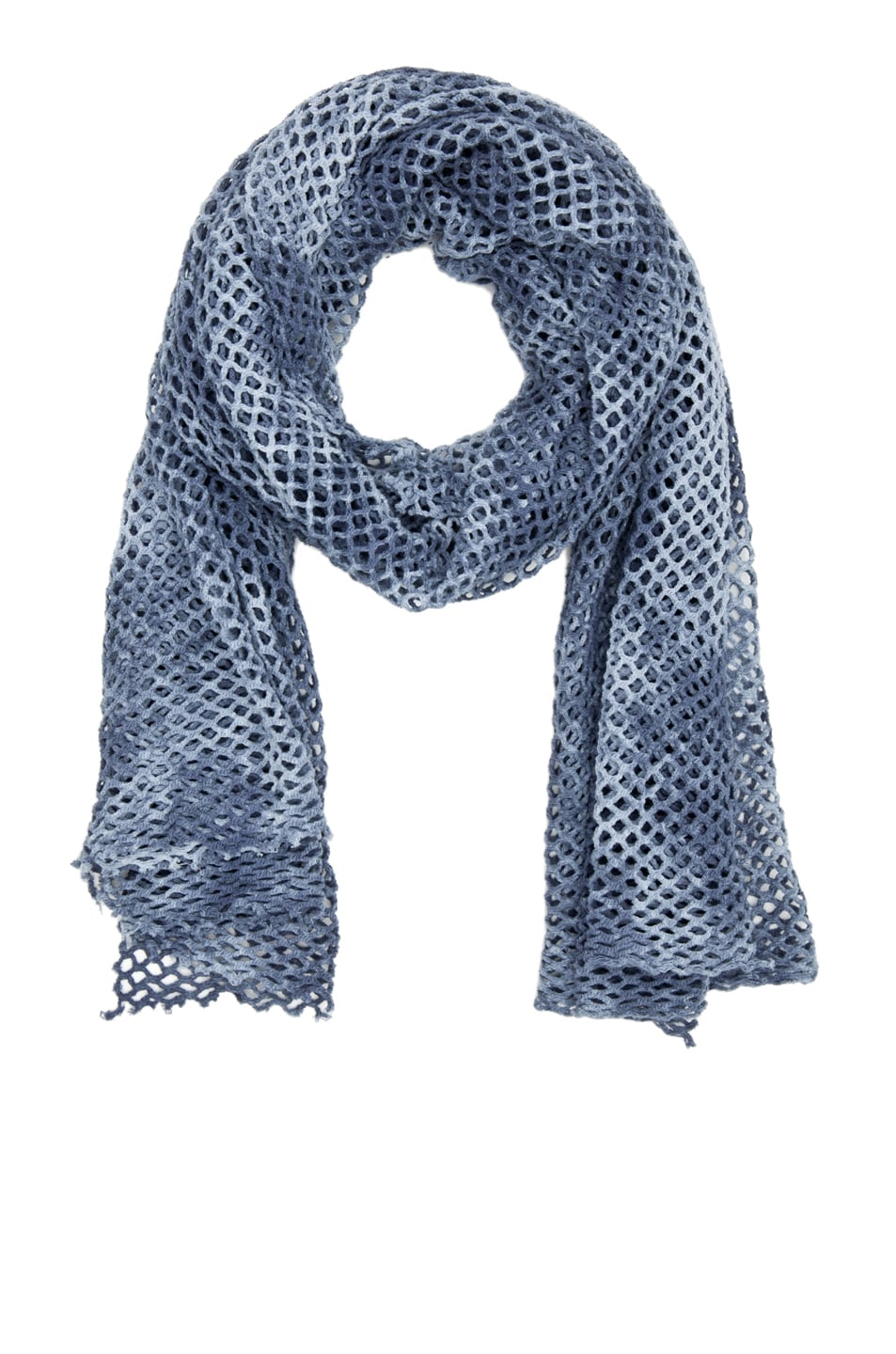 Image 1 of Robert Geller Small Treated Mesh Scarf in Dusk