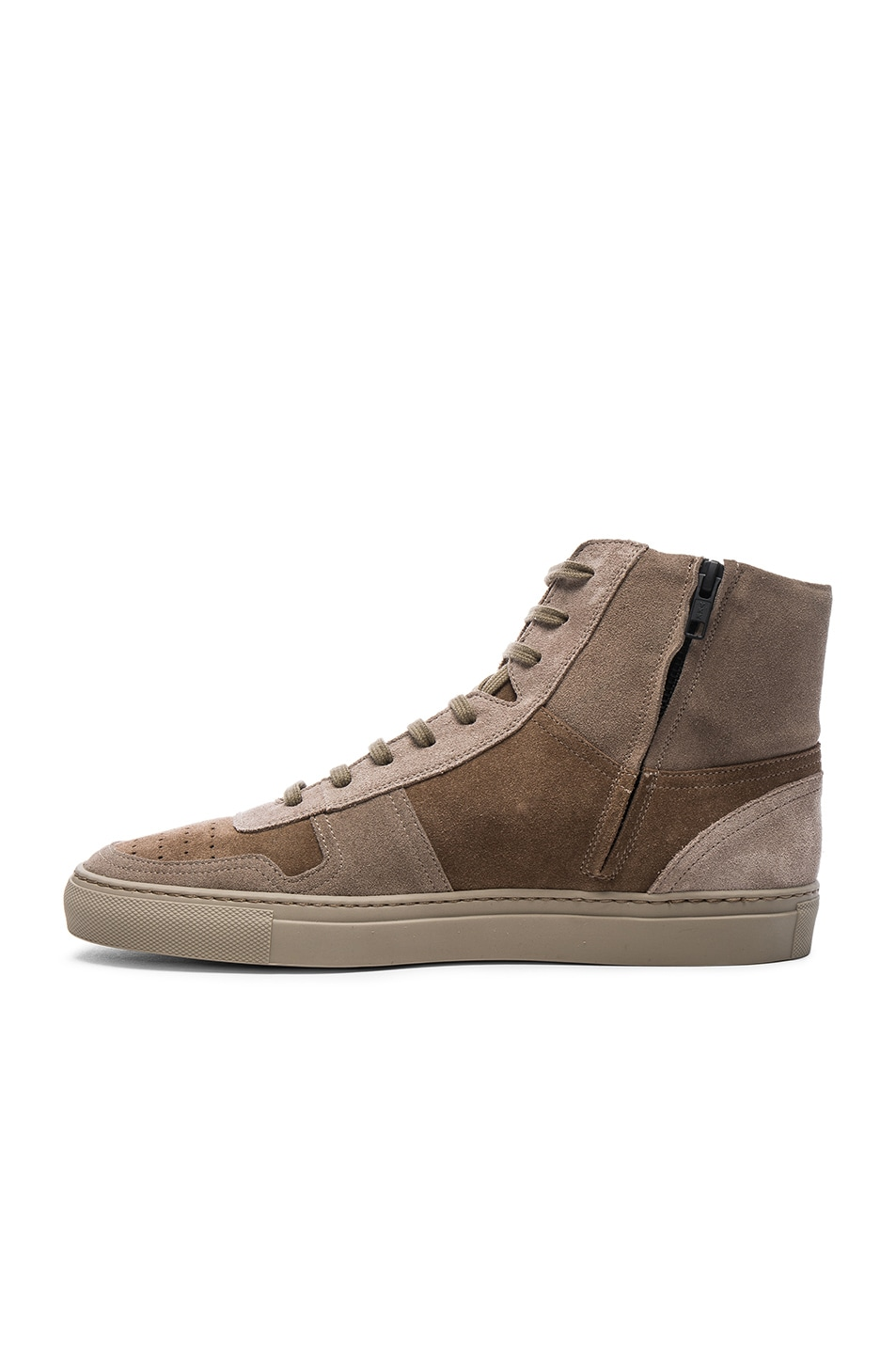 4d036ccf840d7b Image 5 of Robert Geller x Common Projects Suede High Top Sneakers in Taupe