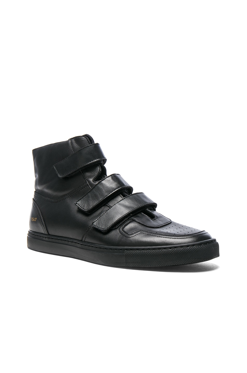Best Selling Men Robert Geller Black Common Projects Edition High Top Sneakers