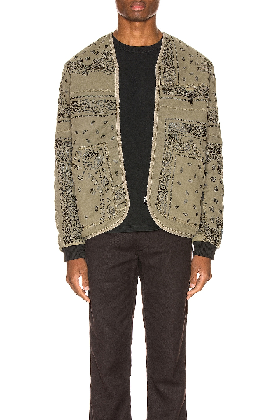 Image 1 of Reese Cooper Bandana Parka Liner in Military Green