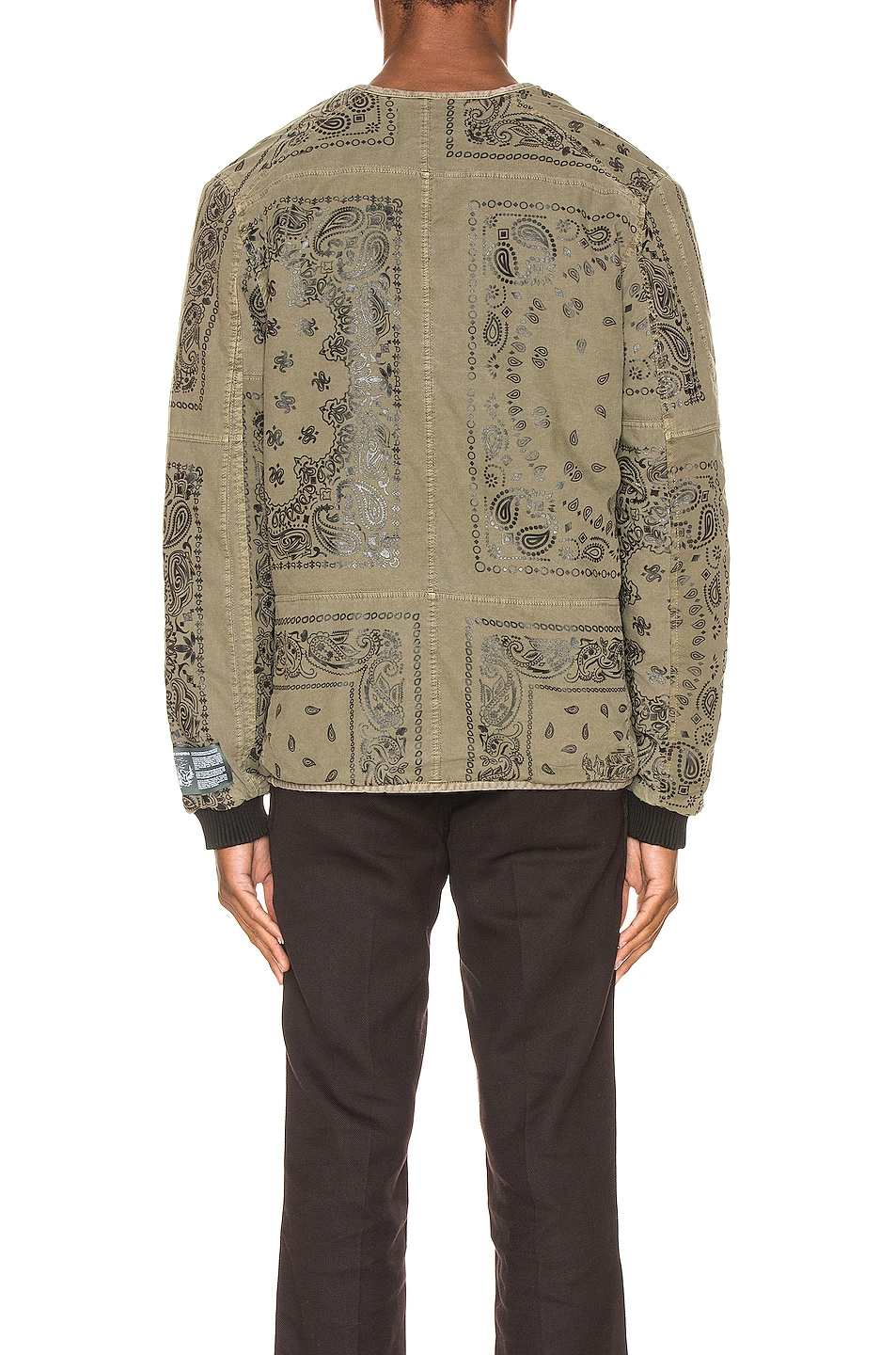 Image 4 of Reese Cooper Bandana Parka Liner in Military Green