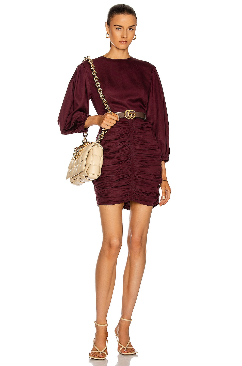 Image 1 of Rhode Sasha Dress in Black Currant