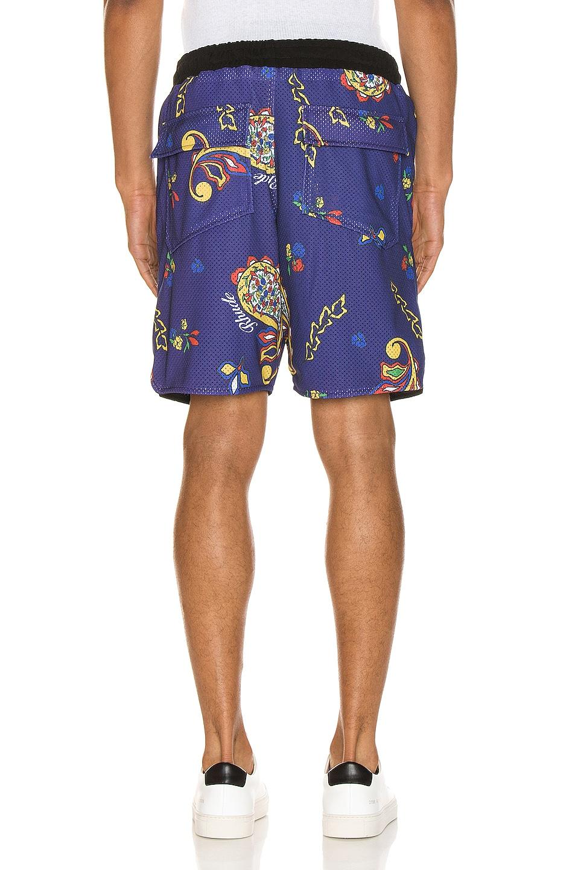 Image 3 of Rhude Bandana BBall Shorts in Blue