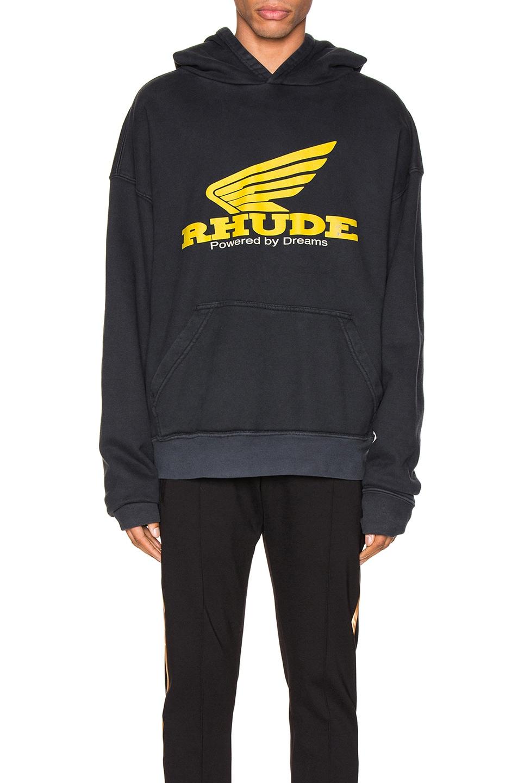 Rhude Accessories Yellow Rhonda Hoodie