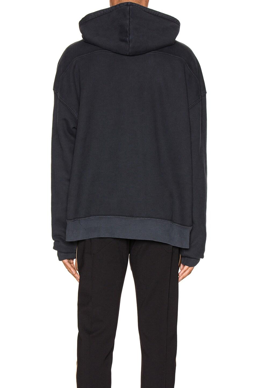 Image 3 of Rhude Yellow Rhonda Hoodie in Black