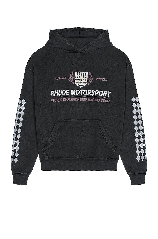 Image 1 of Rhude Motor Crest Hoodie in Black
