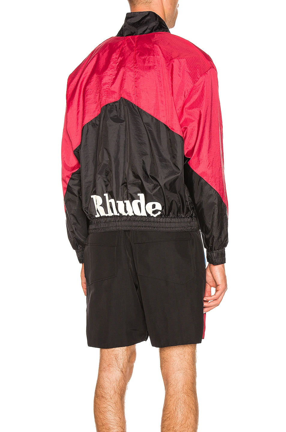 Image 1 of Rhude Flight Jacket in Black & Red