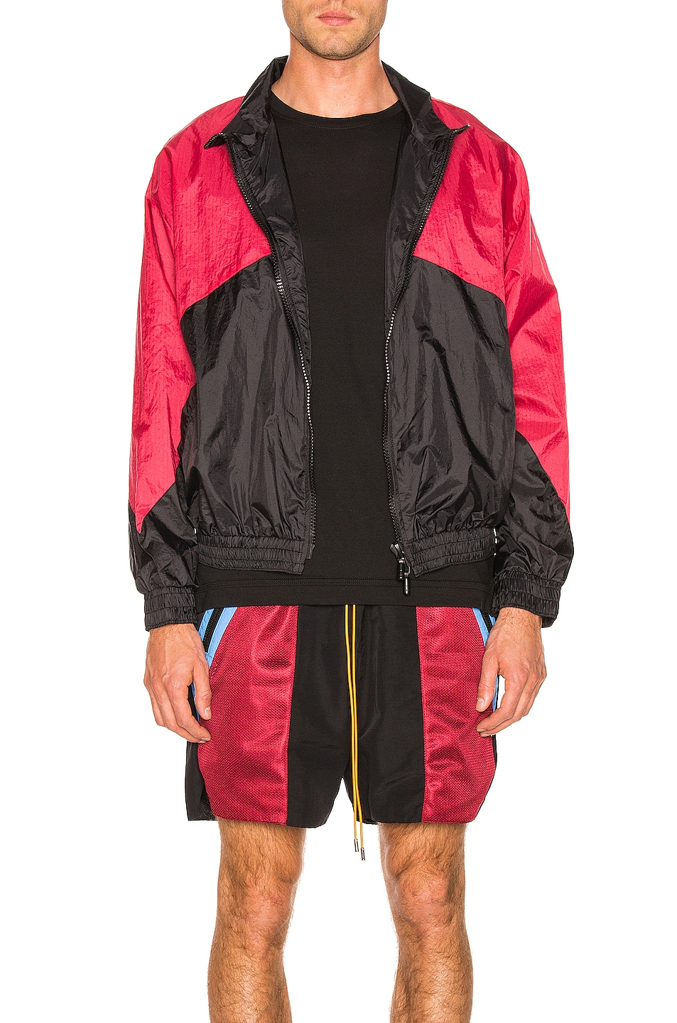 Image 2 of Rhude Flight Jacket in Black & Red