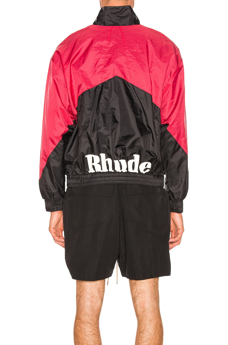 Image 5 of Rhude Flight Jacket in Black & Red