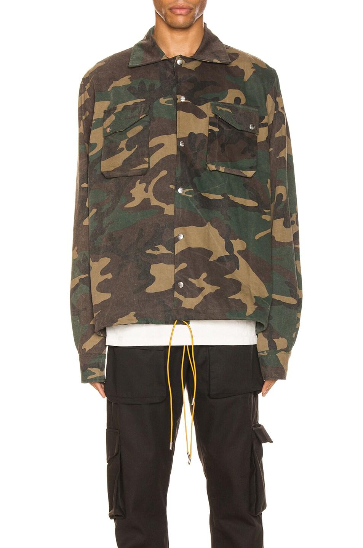 Image 2 of Rhude Drawstring Jacket in Camo