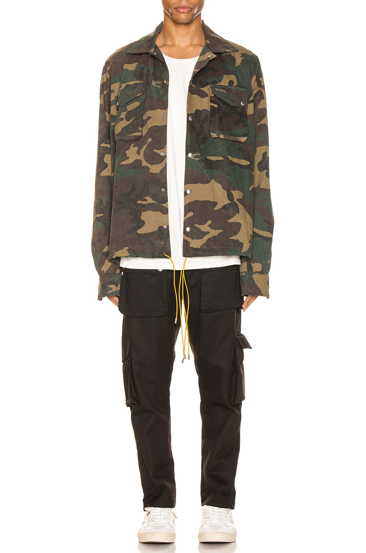 Image 5 of Rhude Drawstring Jacket in Camo