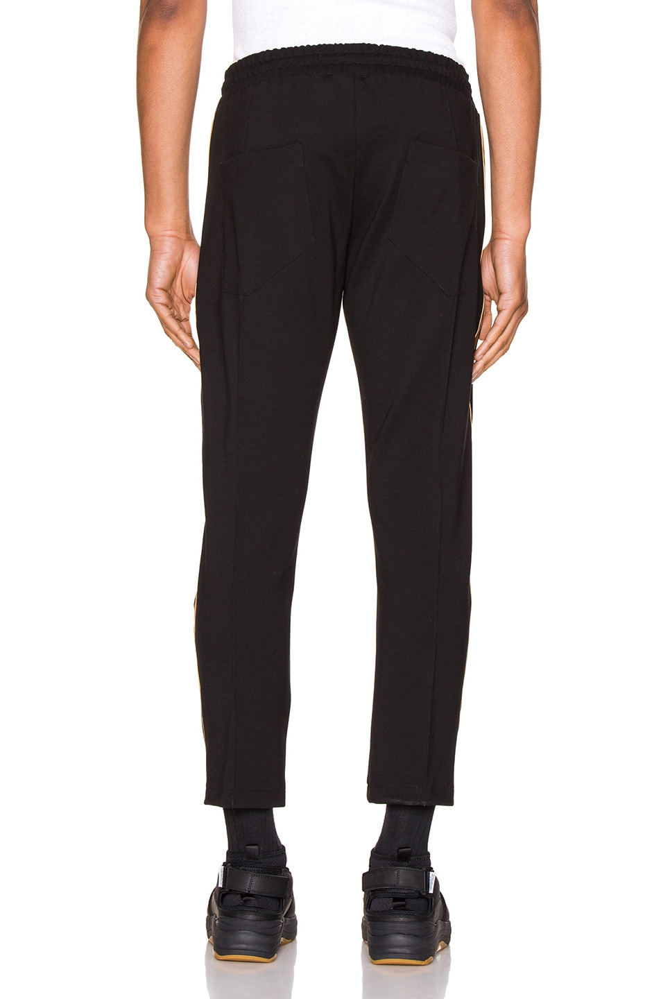 Image 4 of Rhude Traxedo Pant in Black & Gold