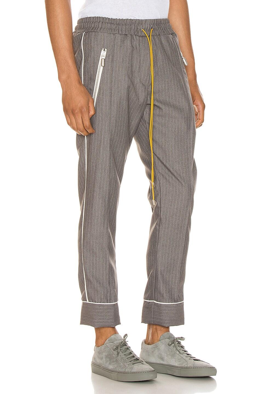Image 3 of Rhude Smoking Pant in Grey & White