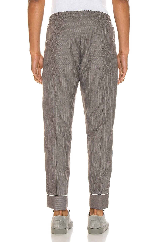 Image 4 of Rhude Smoking Pant in Grey & White