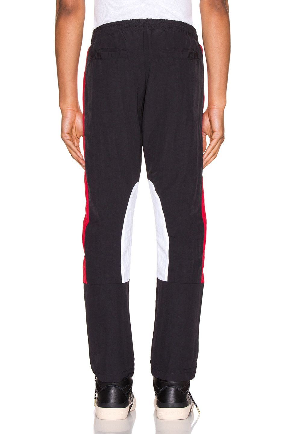 Image 3 of Rhude Rhacing Pant in Black & White & Red