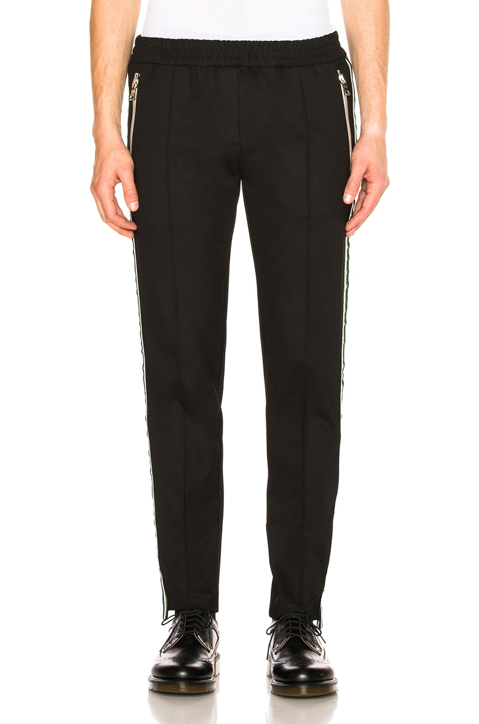 Image 2 of Rhude Traxedo Pant in Black & Green & Gold