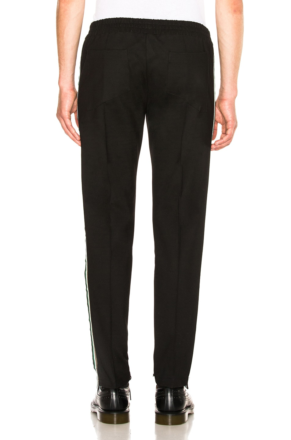 Image 4 of Rhude Traxedo Pant in Black & Green & Gold