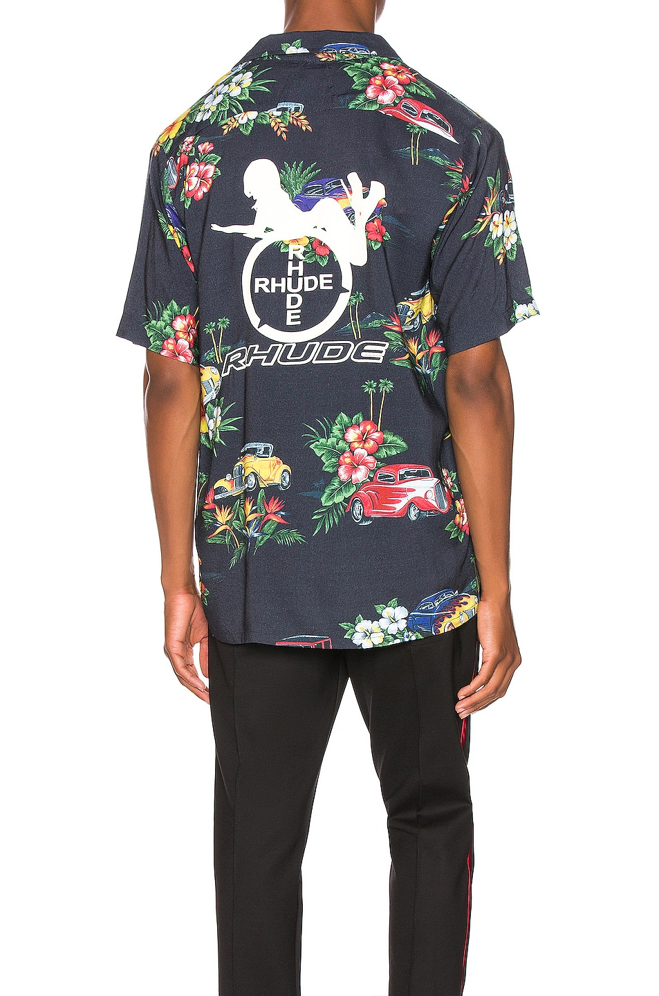 Image 1 of Rhude Hawaiian Shirt Girl in Black