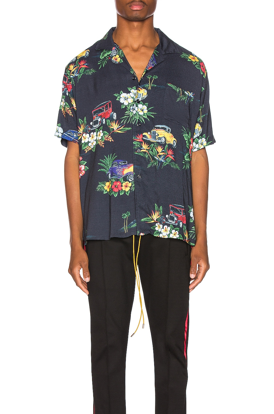 Image 2 of Rhude Hawaiian Shirt Girl in Black