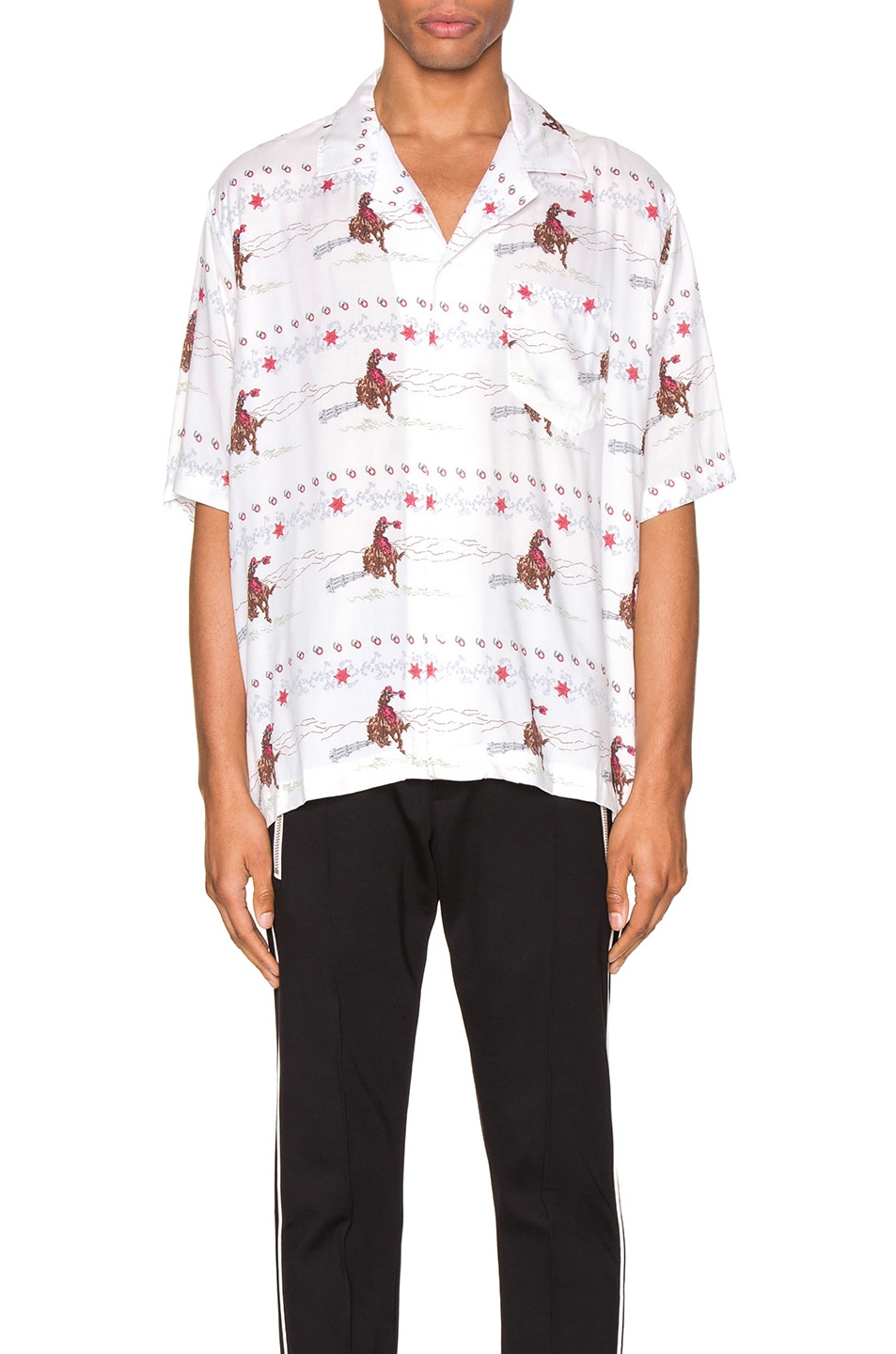 Image 1 of Rhude Cowboy Hawaiian Shirt in White
