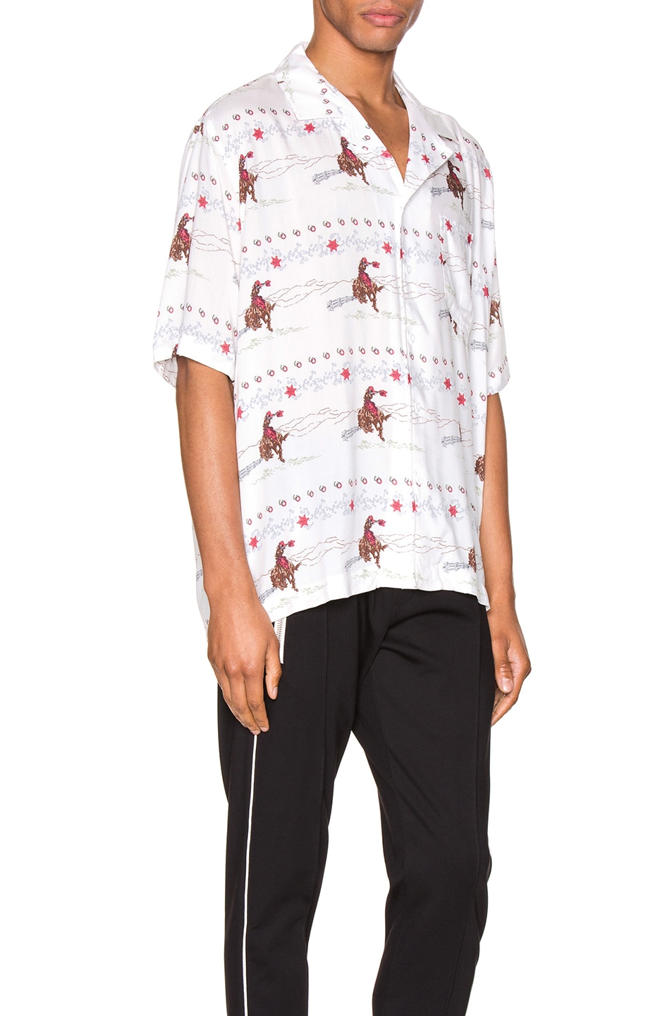 Image 2 of Rhude Cowboy Hawaiian Shirt in White