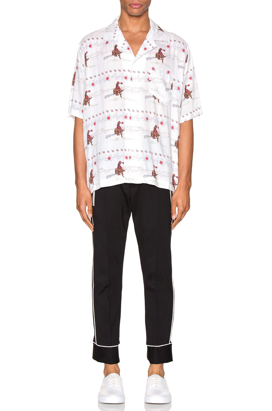 Image 4 of Rhude Cowboy Hawaiian Shirt in White