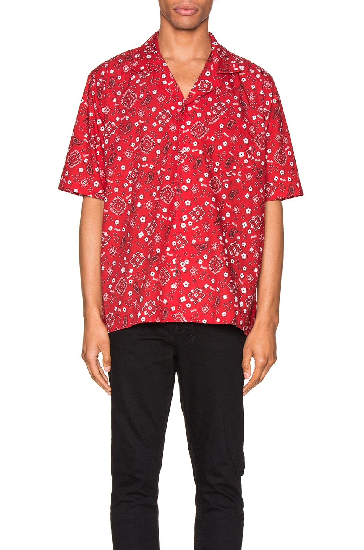 Image 1 of Rhude Bandana Hawaiian Shirt in Red