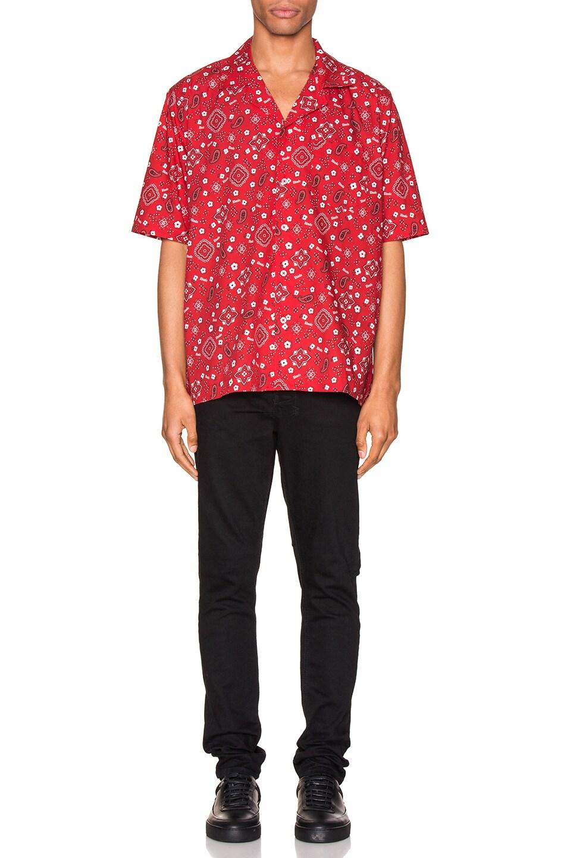 Image 4 of Rhude Bandana Hawaiian Shirt in Red