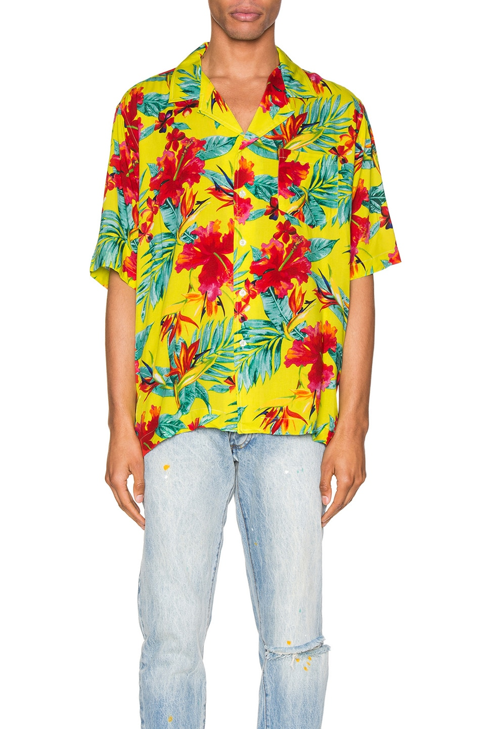 Image 1 of Rhude Hawaiian Shirt in Green