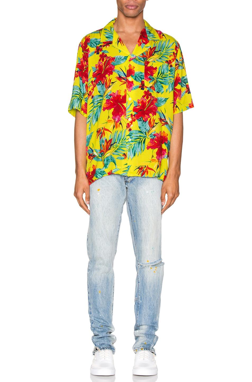 Image 4 of Rhude Hawaiian Shirt in Green