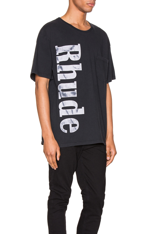Image 2 of Rhude Rhude Pocket Tee in Black