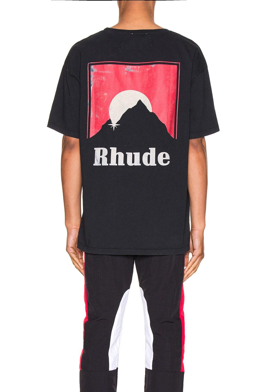 Image 4 of Rhude Moonlight Logo Tee in Red & Black