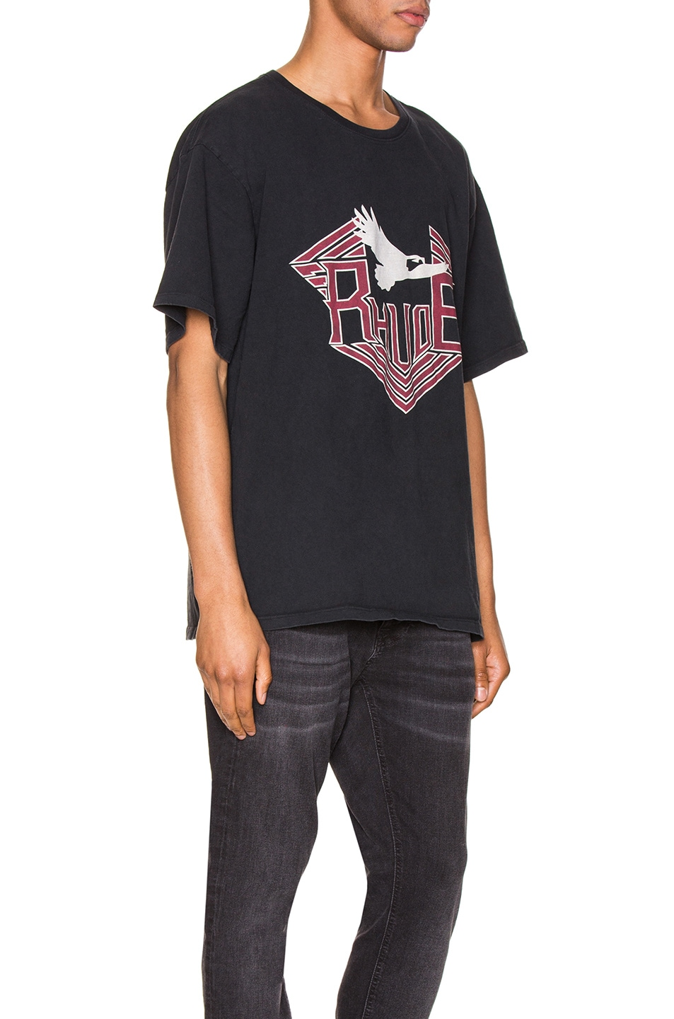 Image 2 of Rhude Rhanger Tee in Black