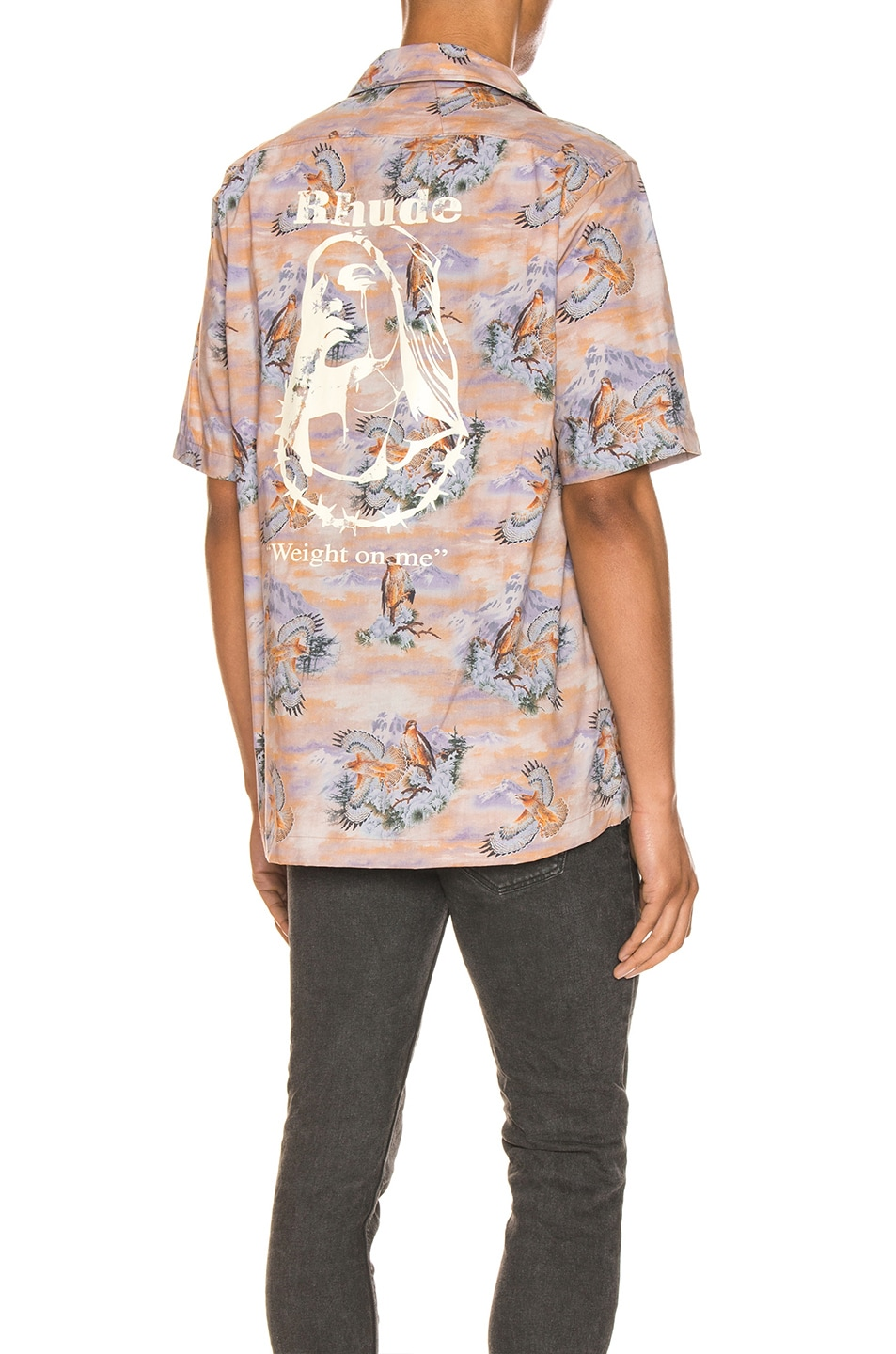 Image 1 of Rhude Eagle Button Up in Brown
