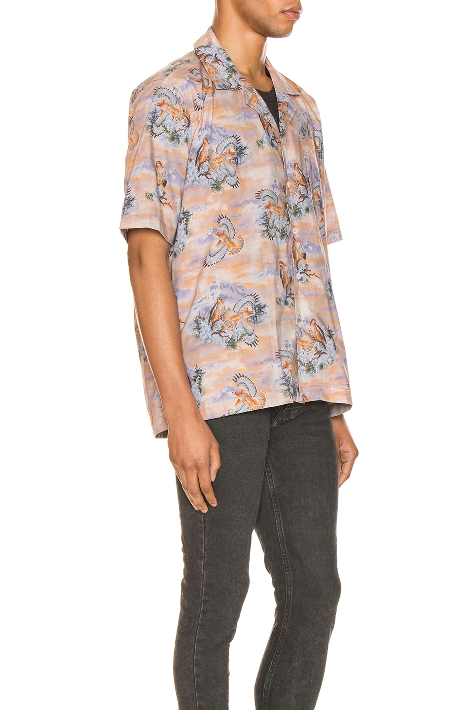 Image 3 of Rhude Eagle Button Up in Brown