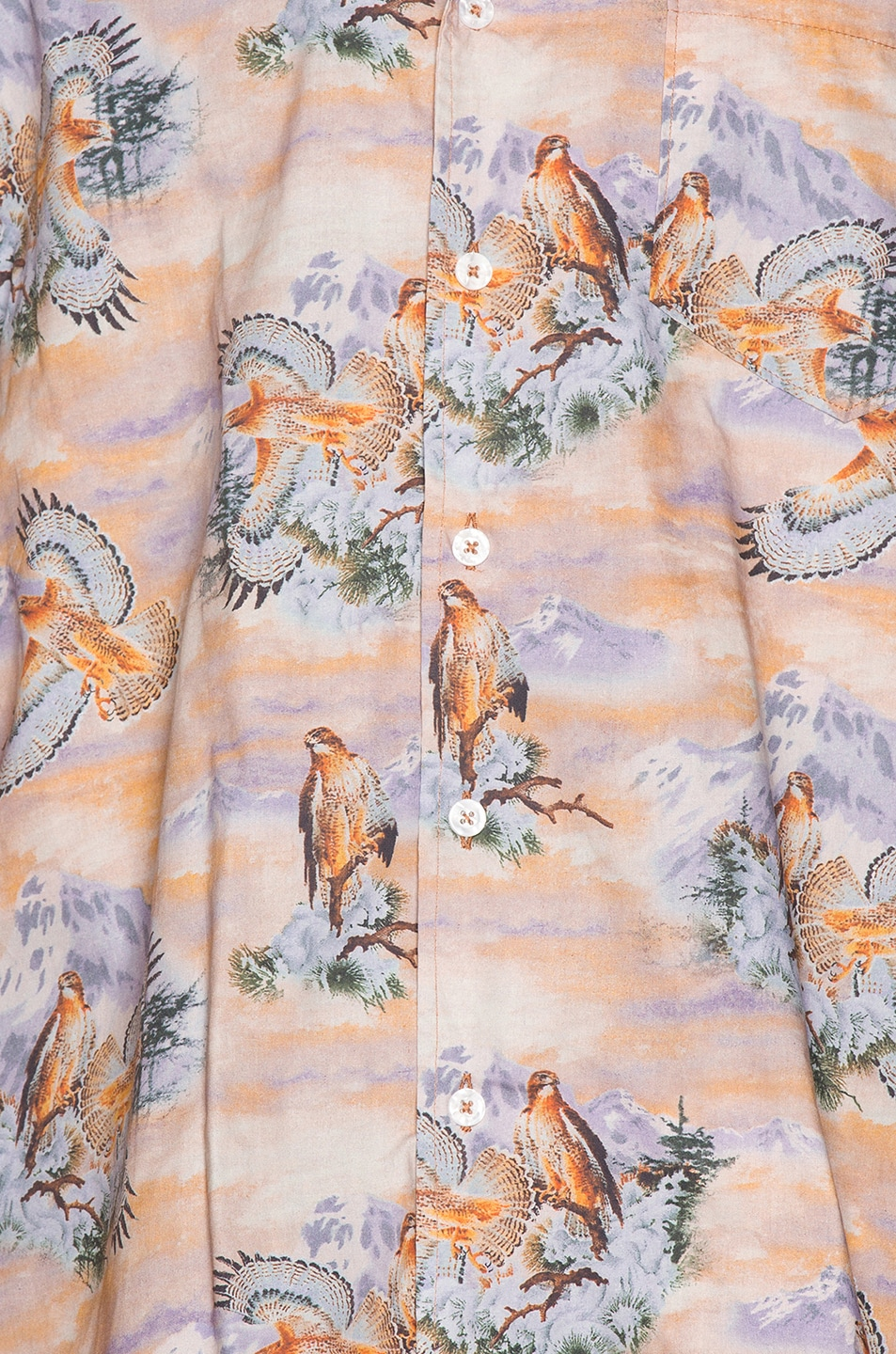 Image 6 of Rhude Eagle Button Up in Brown