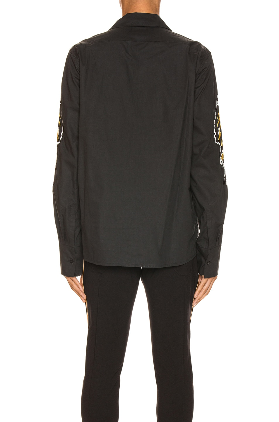 Image 4 of Rhude Eagle Embroidered Button Up in Black