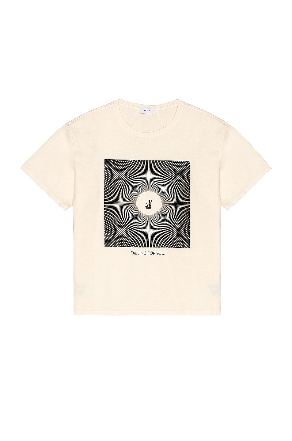Image 1 of Rhude Falling For You Graphic Tee in Ivory