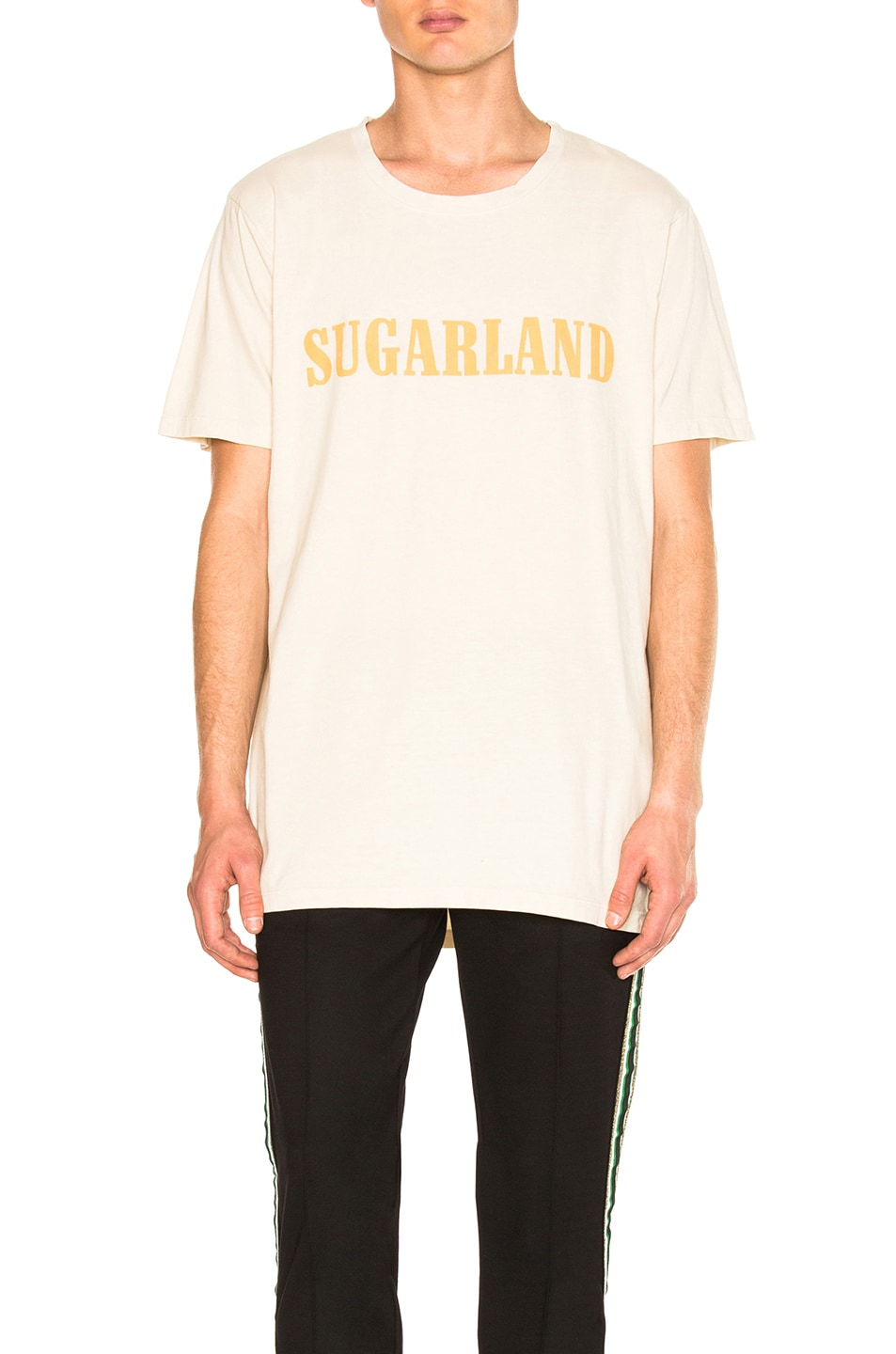 Image 1 of Rhude Sugarland Tee in Vintage White & Yellow