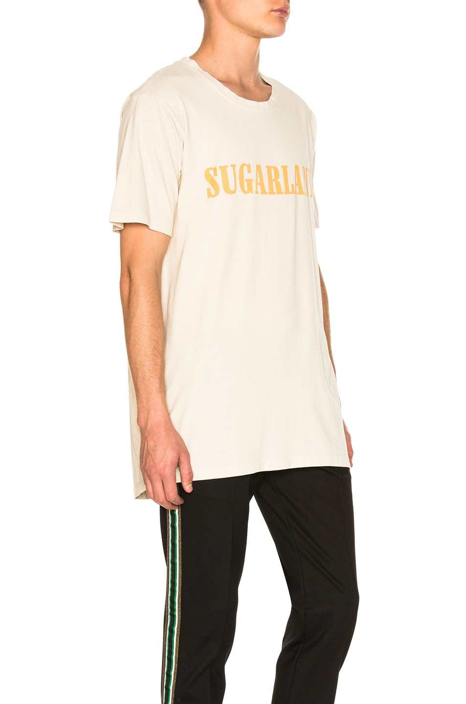 Image 2 of Rhude Sugarland Tee in Vintage White & Yellow