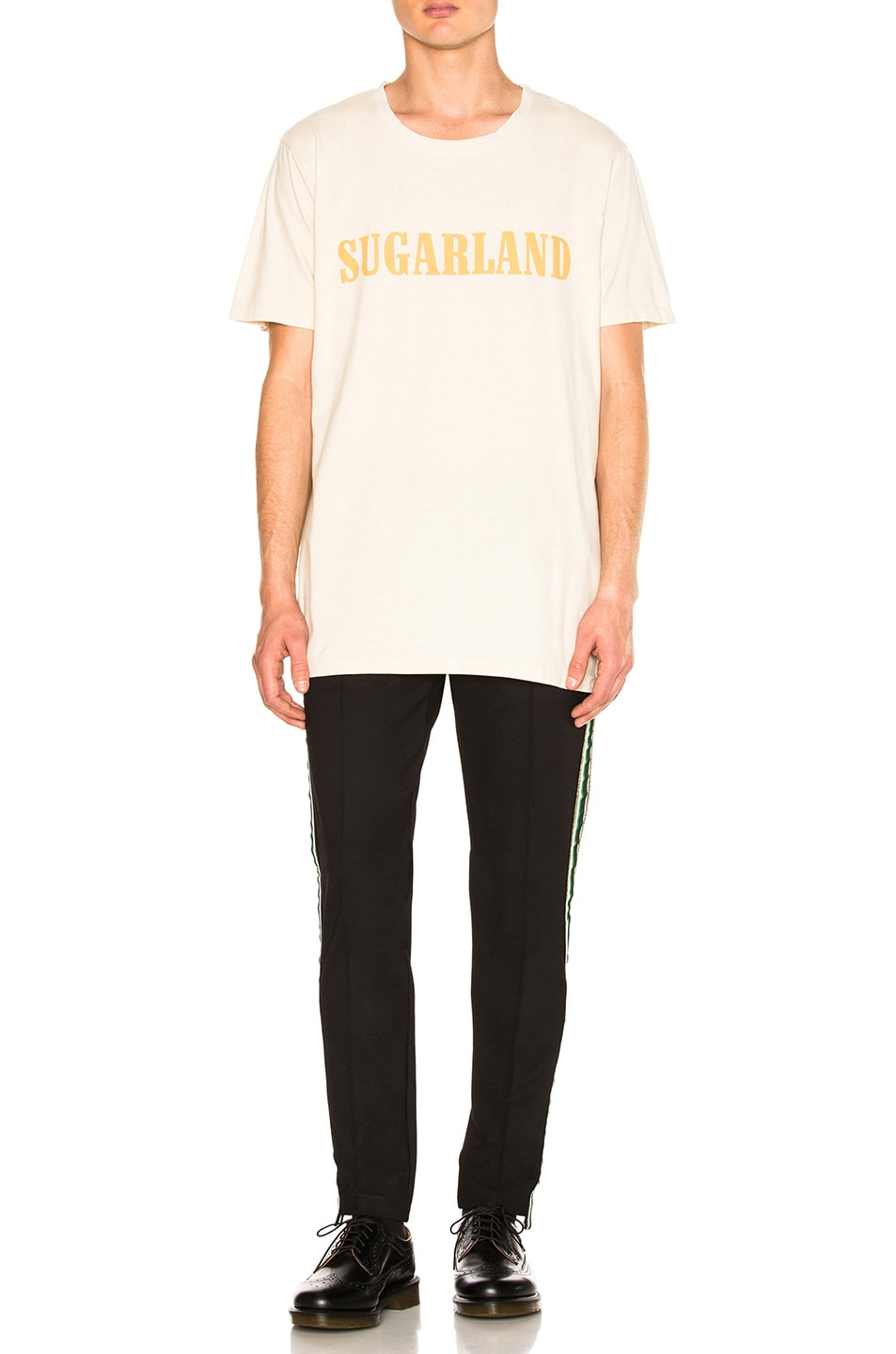 Image 4 of Rhude Sugarland Tee in Vintage White & Yellow