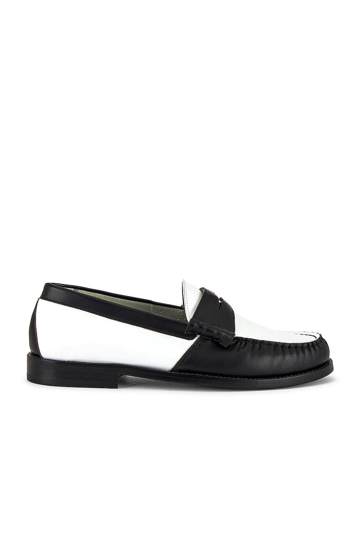 Image 1 of Rhude Loafer in Black & White