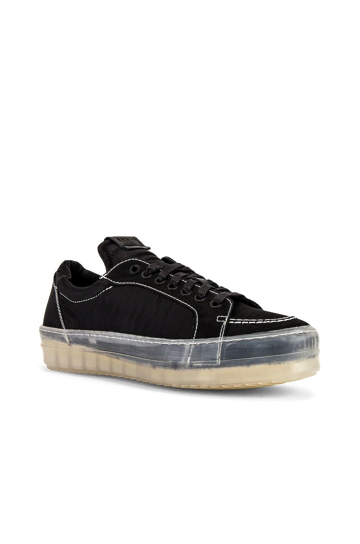 Image 1 of Rhude V1-Lo Sneaker in Black Nylon & Translucent
