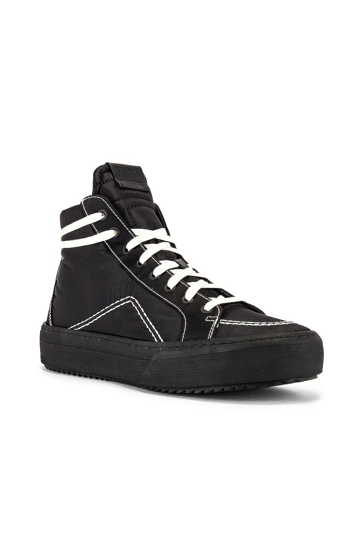 Image 1 of Rhude V1-Hi Sneaker in Black Nylon & Black