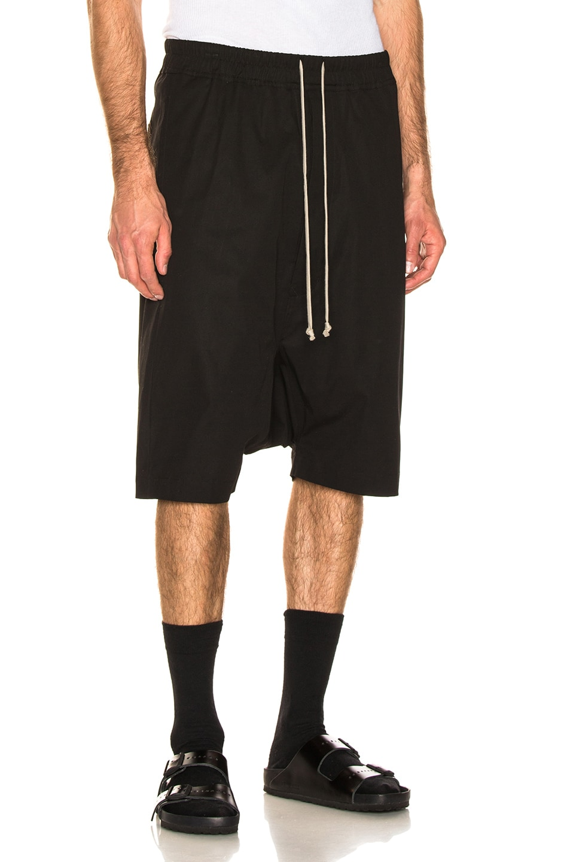 Image 2 of Rick Owens Pod Shorts in Black
