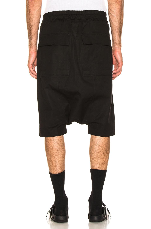 Image 3 of Rick Owens Pod Shorts in Black