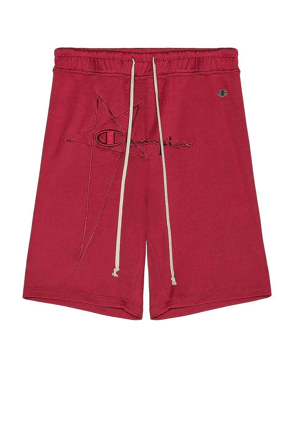 Image 1 of Rick Owens x Champion Classic Jersey Shorts in Cherry
