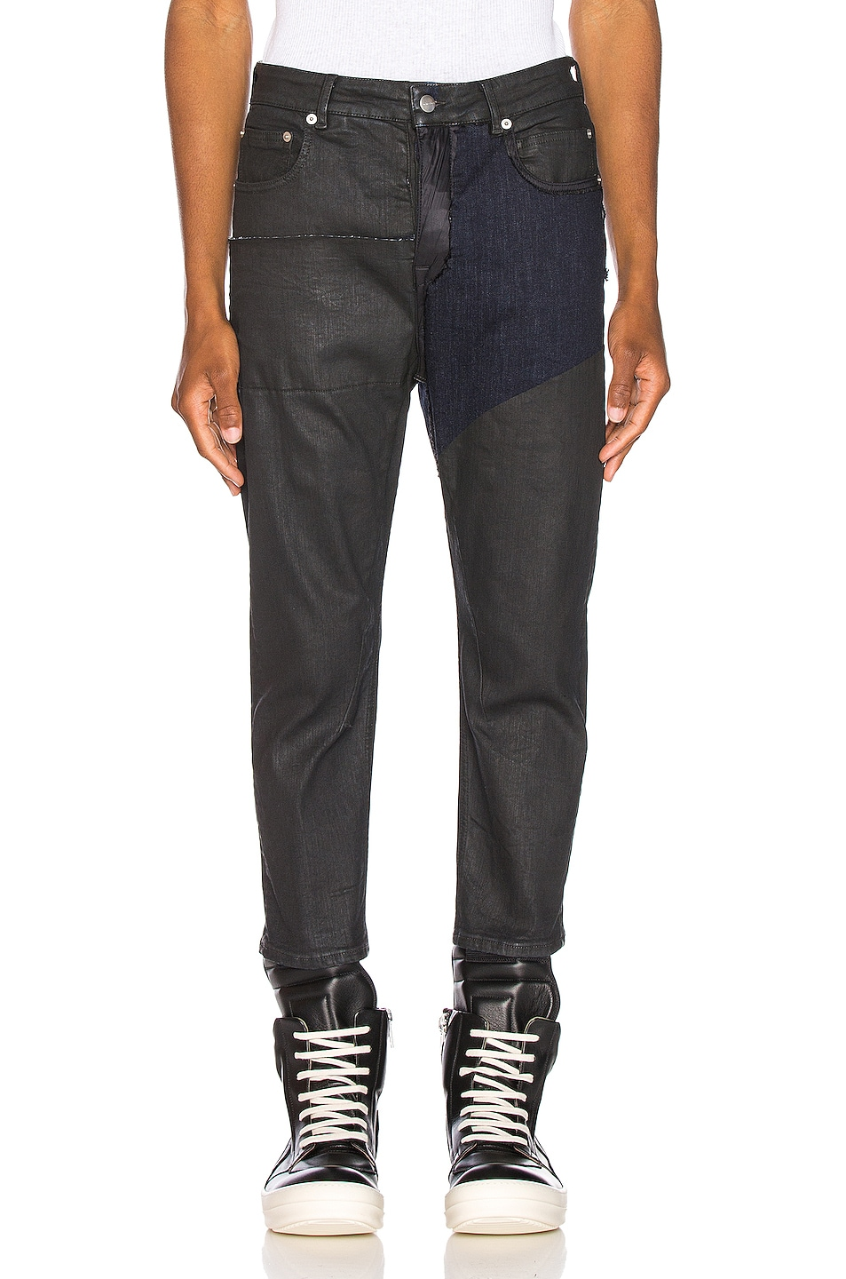 Image 1 of Rick Owens Babel Cropped Jeans in Black