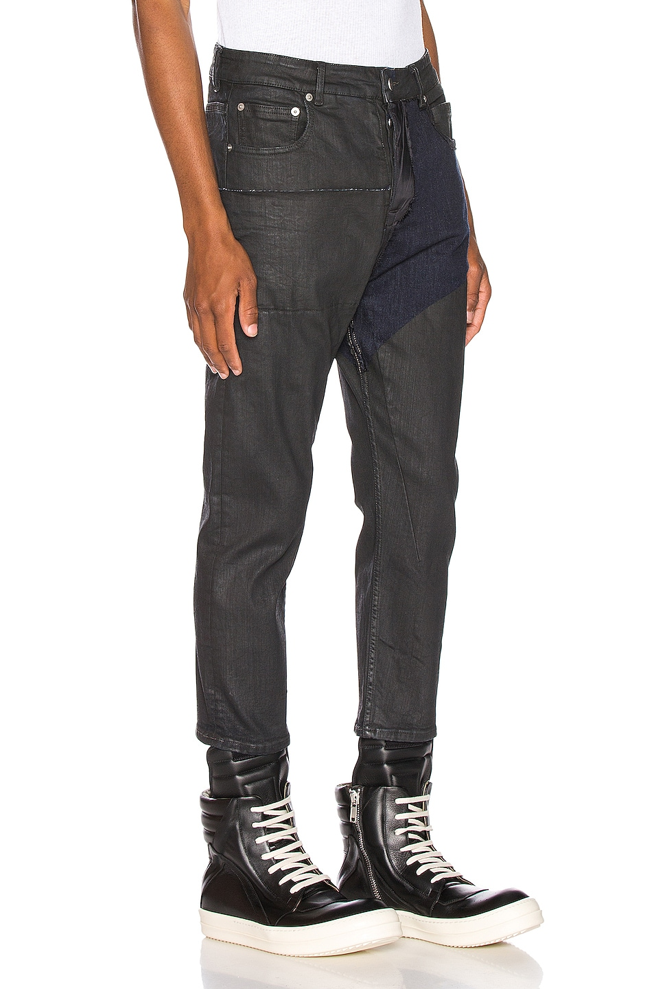 Image 2 of Rick Owens Babel Cropped Jeans in Black